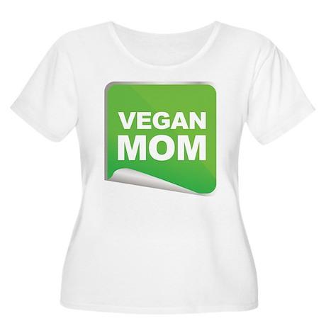 Vegan Mom Label Women's Plus Size Scoop Neck T-Shi