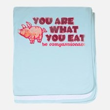 You Are What You Eat baby blanket