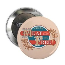 "Meat Free Sign Blue 2.25"" Button"
