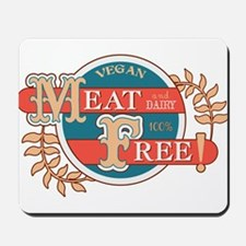 Meat Free Sign Blue Mousepad