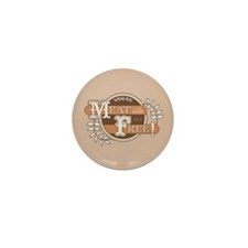 Meat Free Sign Brown Mini Button (10 pack)