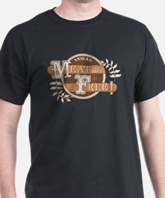 Meat Free Sign Brown T-Shirt