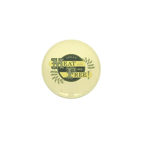 Meat Free Sign Green Mini Button (100 pack)