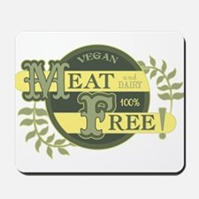 Meat Free Sign Green Mousepad