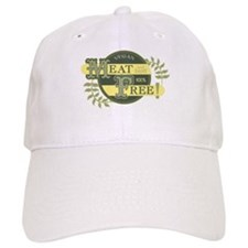 Meat Free Sign Green Baseball Cap
