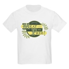 Meat Free Sign Green T-Shirt