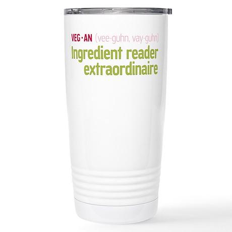 Ingredient Reader Stainless Steel Travel Mug