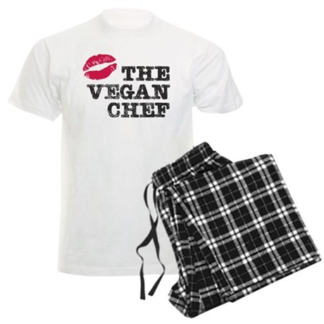 Kiss the Vegan Chef Men's Light Pajamas