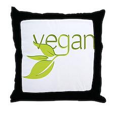 Leafy Vegan Throw Pillow