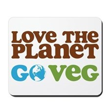 Love the Planet Go Veg Mousepad