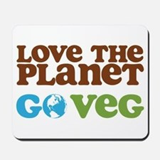 Love the Planet Go Veg Mousepad