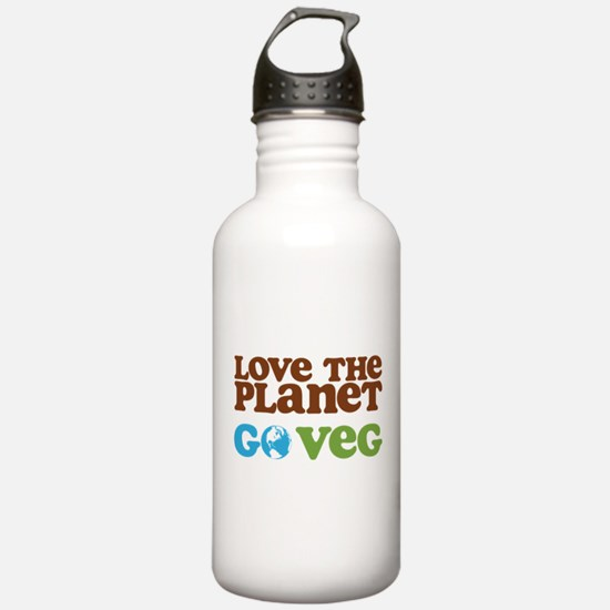 Love the Planet Go Veg Water Bottle