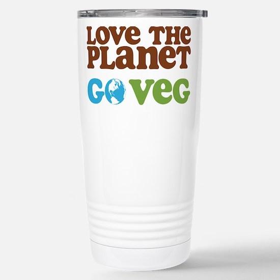 Love the Planet Go Veg Stainless Steel Travel Mug