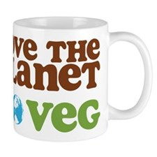 Love the Planet Go Veg Mug