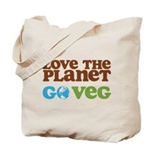 Love the Planet Go Veg Tote Bag