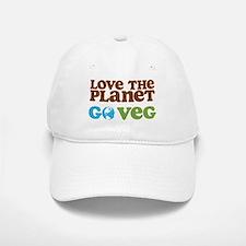 Love the Planet Go Veg Baseball Baseball Cap