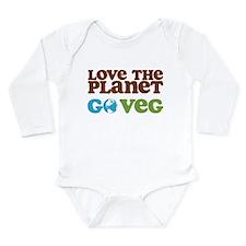 Love the Planet Go Veg Long Sleeve Infant Bodysuit