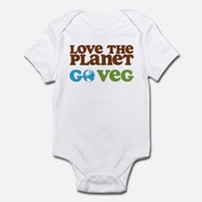 Love the Planet Go Veg Infant Bodysuit