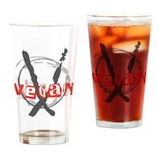 Vegan Anarchist Drinking Glass