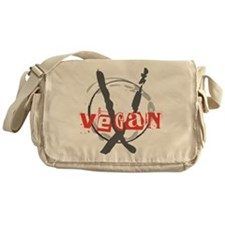 Vegan Anarchist Messenger Bag