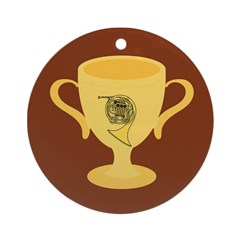 French Horn Award Ornament (Round)