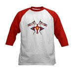 Medieval Shield Graphic Kids Baseball Jersey