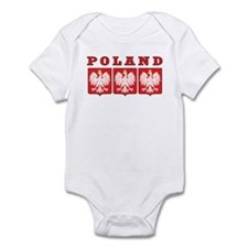 Poland Eagle Shields Infant Bodysuit