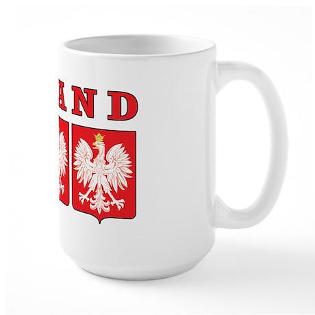 Poland Eagle Shields Large Mug