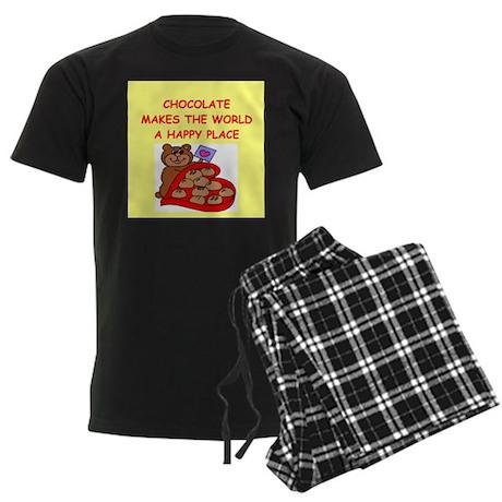 chocolate Men's Dark Pajamas