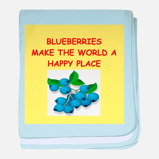 blueberries baby blanket