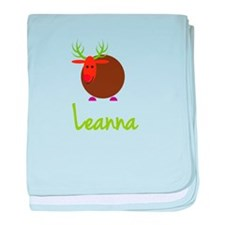 Leanna the Reindeer baby blanket