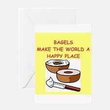 bagels Greeting Card