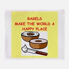 bagels Throw Blanket