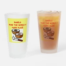 bagels Drinking Glass