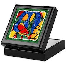 Colorful Abstract Nativity Christmas Keepsake Box
