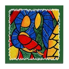 Holy Family Ceramic Tile Christmas Coaster