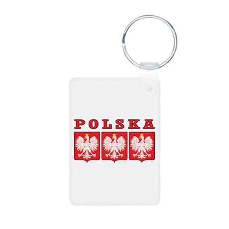 Polska Eagle Shields Aluminum Photo Keychain