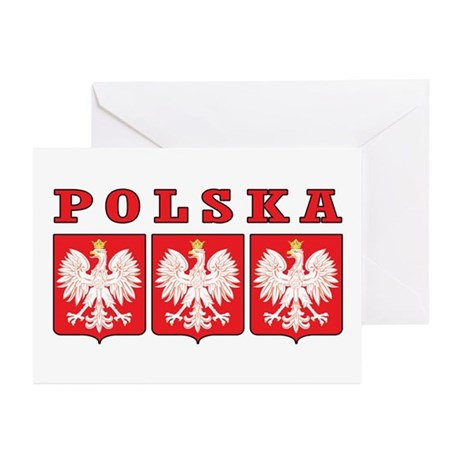 Polska Eagle Shields Greeting Cards (Pk of 20)