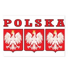 Polska Eagle Shields Postcards (Package of 8)