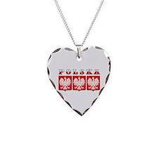Polska Flag Eagle Shields Necklace