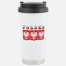 Polska Flag Eagle Shields Travel Mug