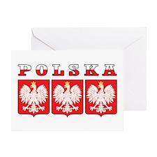 Polska Flag Eagle Shields Greeting Card