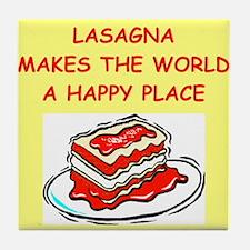 lasagna Tile Coaster