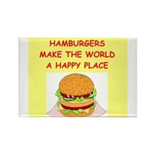 hamburgers Rectangle Magnet (10 pack)