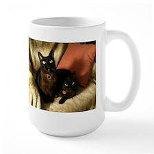 2 Brown Burmese on chair - Mug