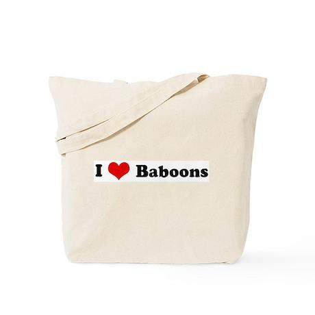 I Love Baboons Tote Bag