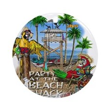 Parrots Beach Party Ornament (Round)