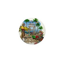 Parrots Beach Party Mini Button (10 pack)