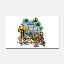 Parrots Beach Party Car Magnet 20 x 12