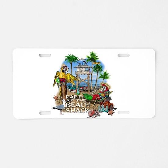 Parrots Beach Party Aluminum License Plate